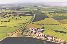 Aerial view of Coastal Grains plant